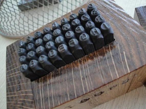 letter stamping set