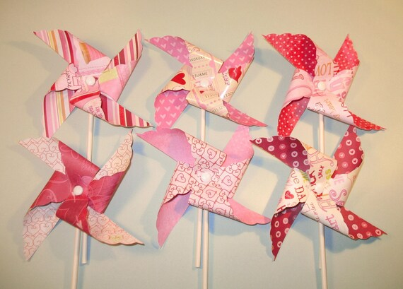 Love Notes Pinwheels...Just in time for Valentines Day  (12)