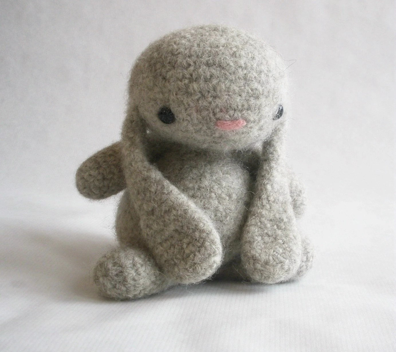 MillieFern Felted Wool Bunny Crochet Plush Toy