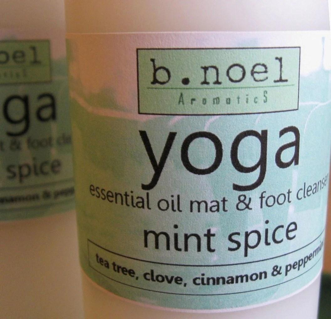 mint spice yoga mat spray