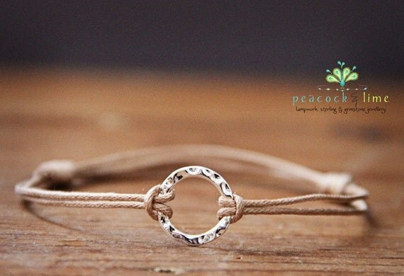 the wish bracelet - karma circle on natural