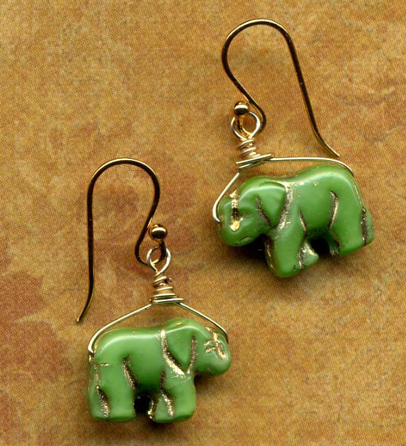 Good Luck Elephants Earrings in 18K Gold Filled SALE