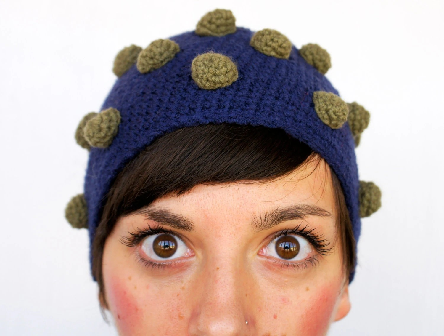 funny hat with pimples