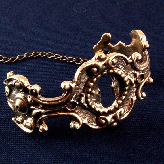 Keyhole Bracelet Bronze Cuff -  Gwen Delicious Jewelry Design