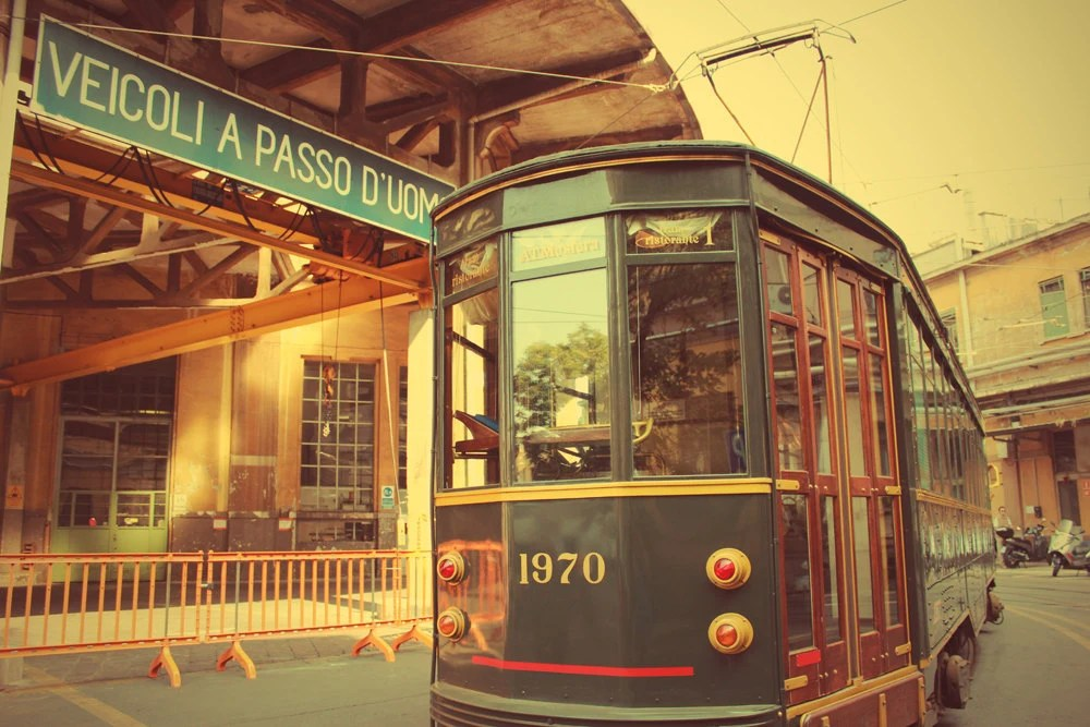 "The ATMosfera - the Milan Tram-Restaurant - 8""x12"" wall decor"