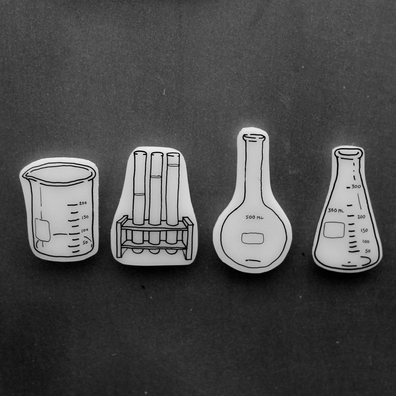 science glasswear magnets