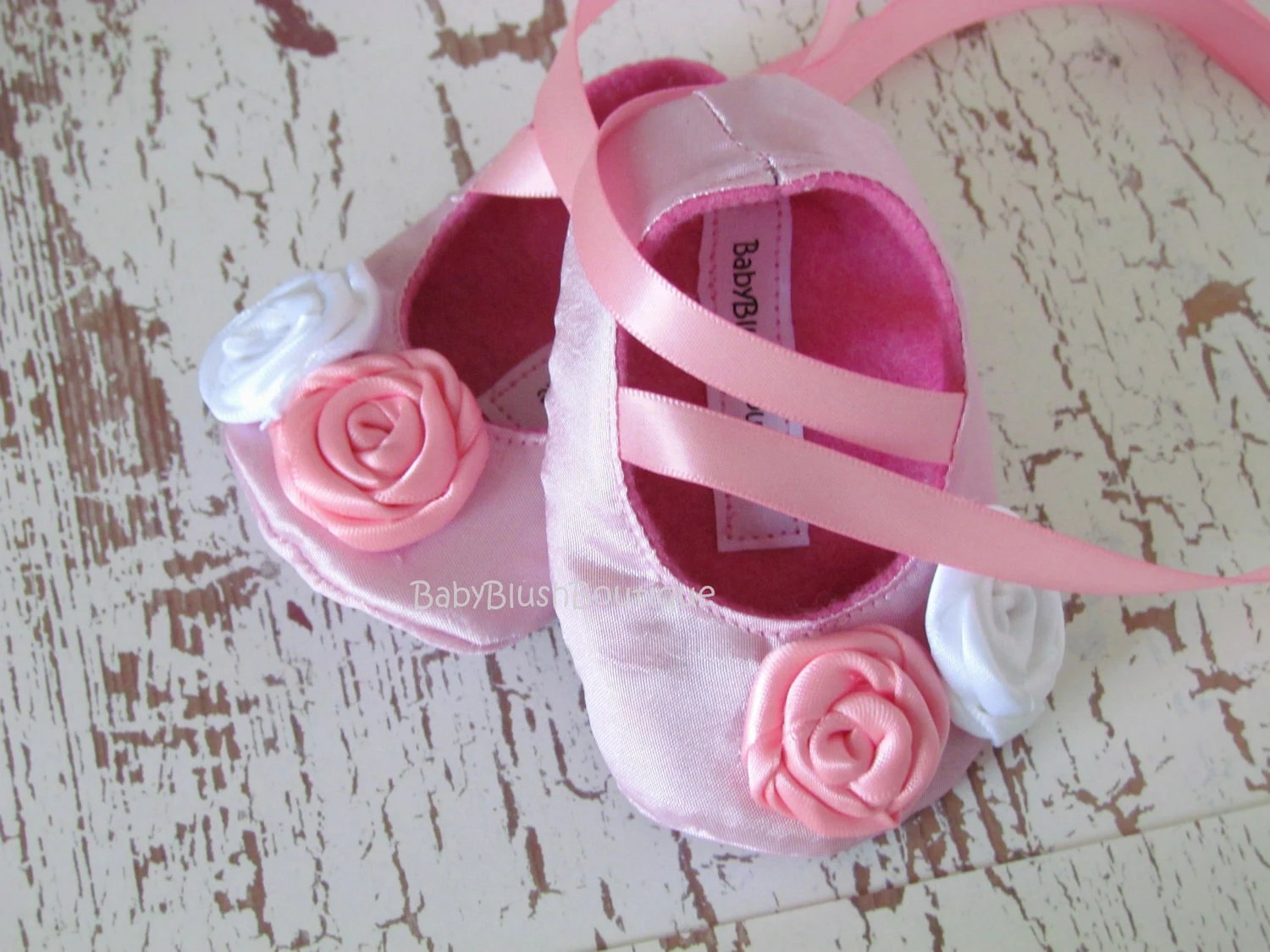 Pink Baby Shoes Soft Ballerina Slippers Baby Booties