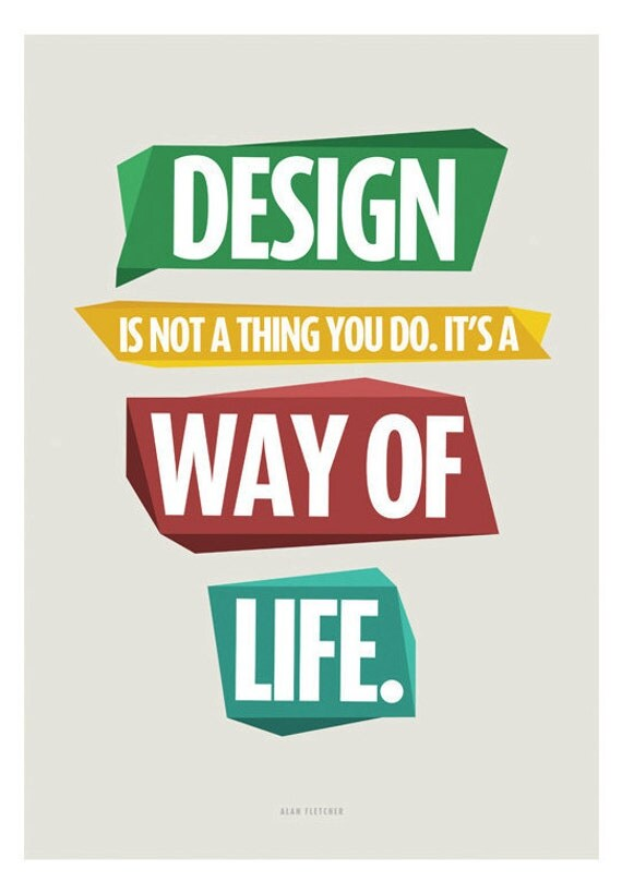 Design - Quote Print Limited Edition 3/5