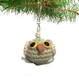 Christmas Ornament Owl Plush Crochet Handmade Cute