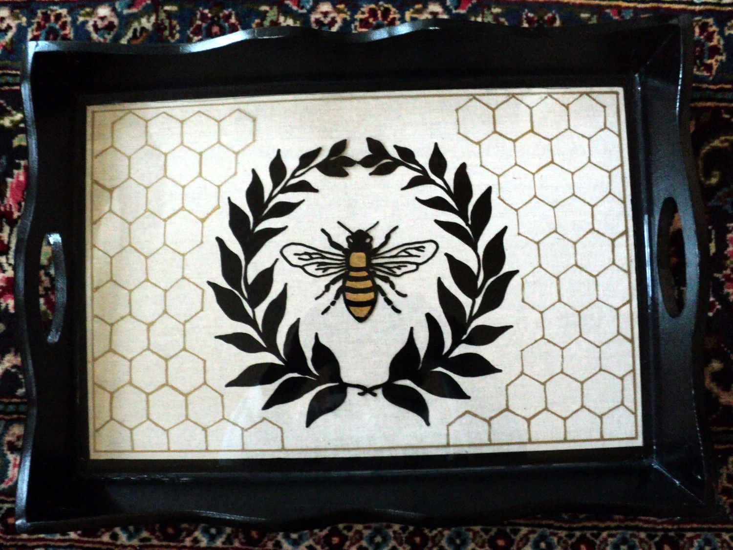 Image result for a picture of a bee on a tray