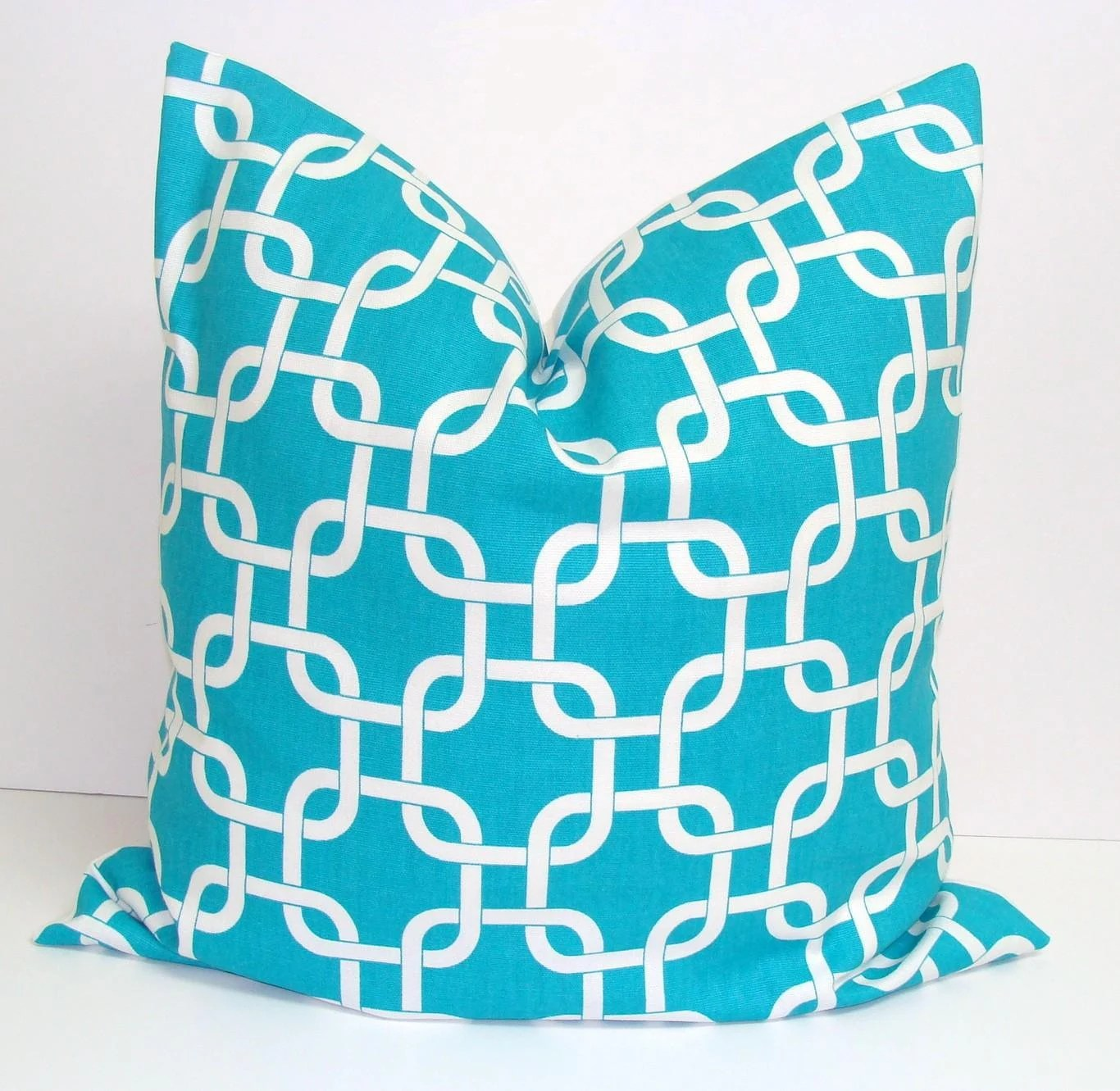 Pillow.Turquoise.ONE 20x20 inch Decorator Pillow Cover.Free Shipping