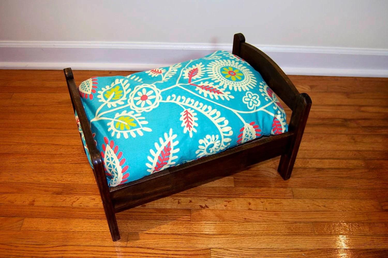 TinyMutts Pet Bed Витражи кадров Дерево с Бирюзовый Waverly Основы современной