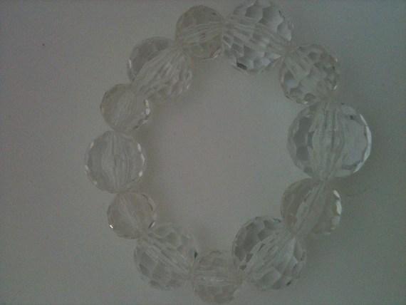 clear bling stretch bracelet
