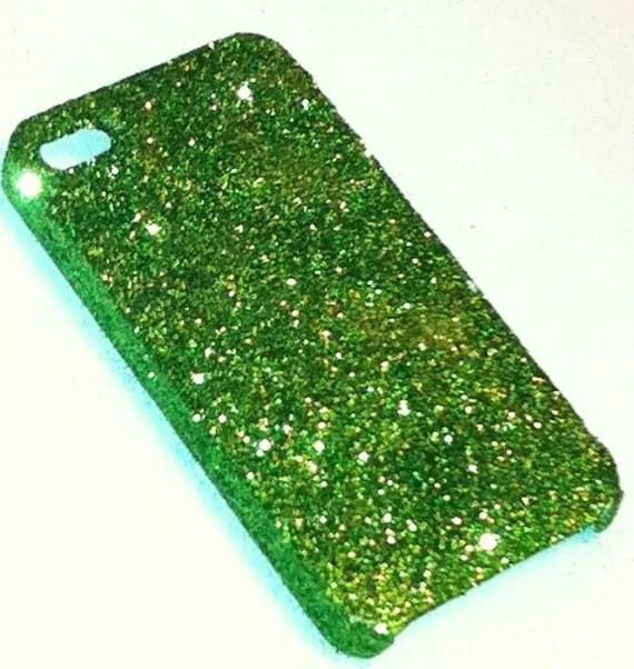 Dark Green Glitter iPhone 4 4s Hard Cover Case