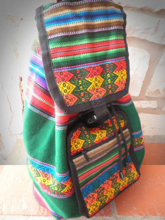 Vintage Ethnic Serape Festival Backpack