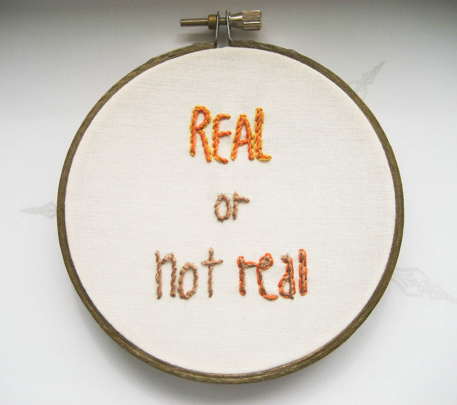 The Hunger Games Embroidery Hoop - Real or Not Real