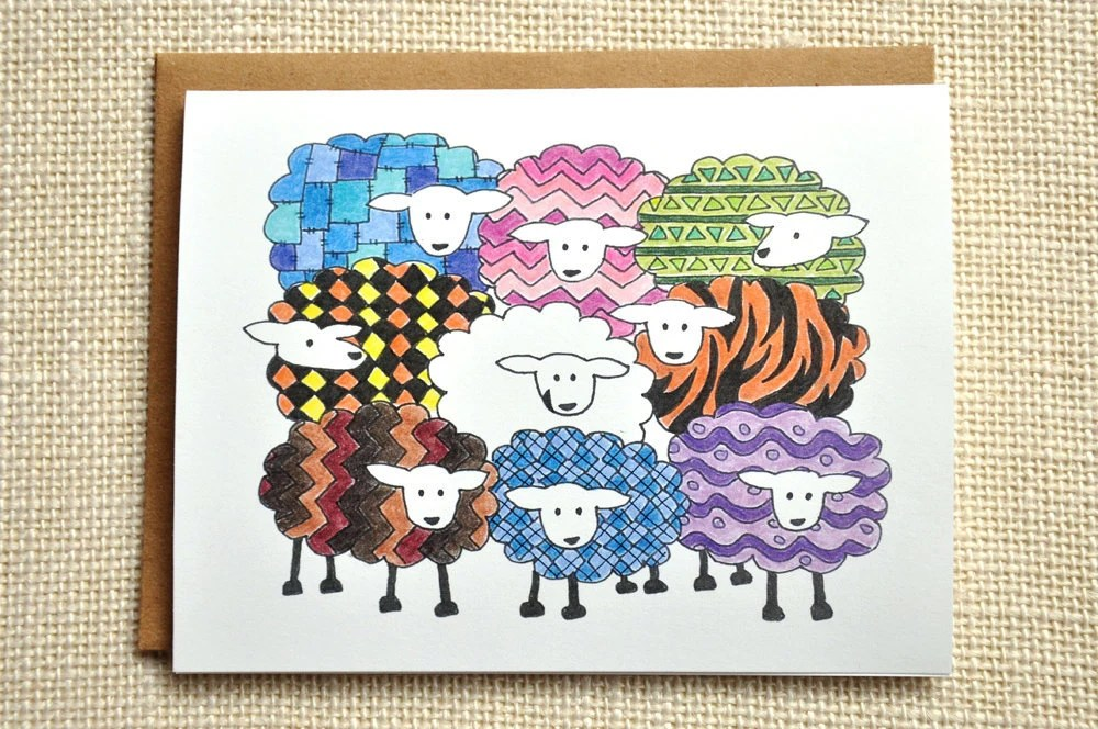 Spring Sheep card