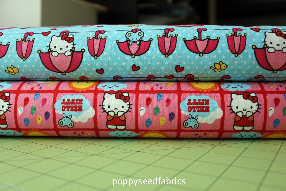 Hello Kitty Licensed by David Textiles - 2 yard bundle