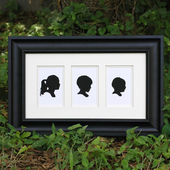 Three Custom Silhouette Prints