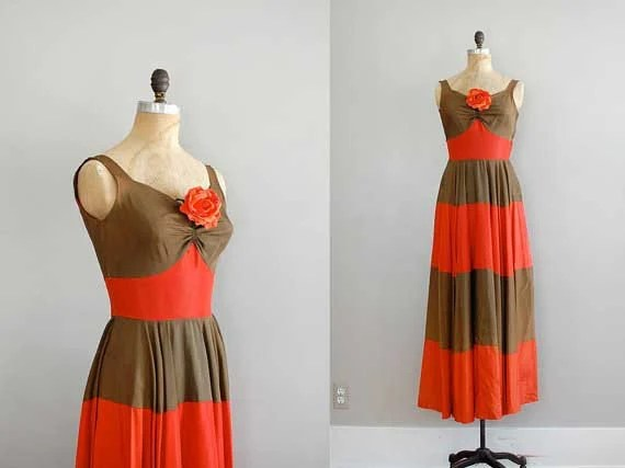 1930s dress from DearGolden on Etsy