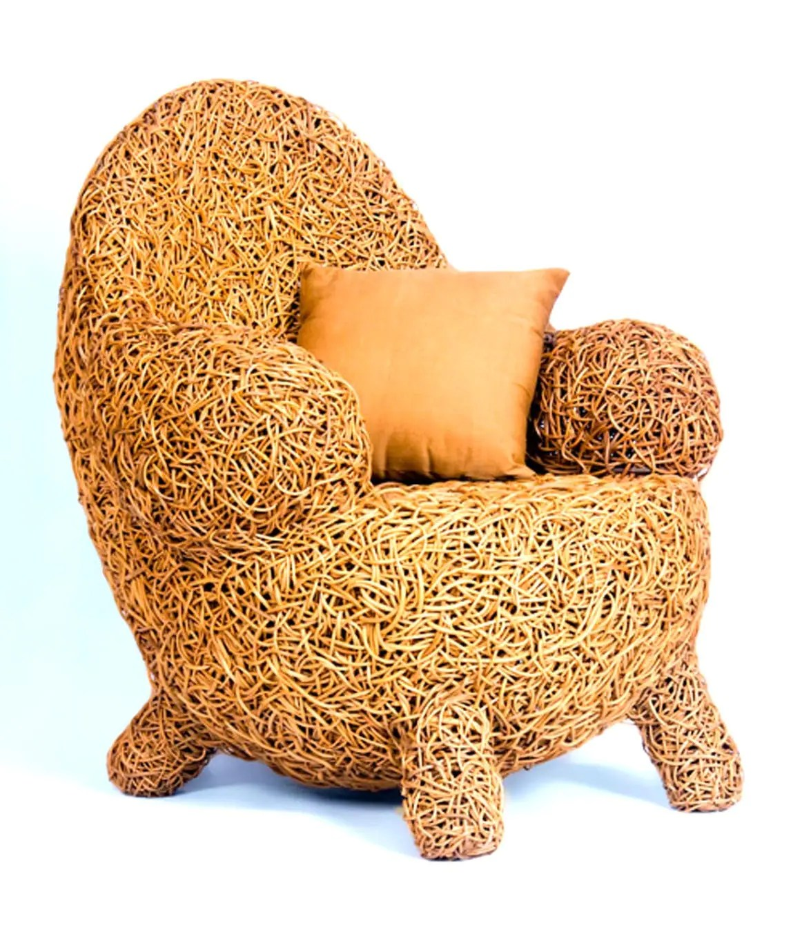 Handmade armchair made from natural sustainable materials - Parameria