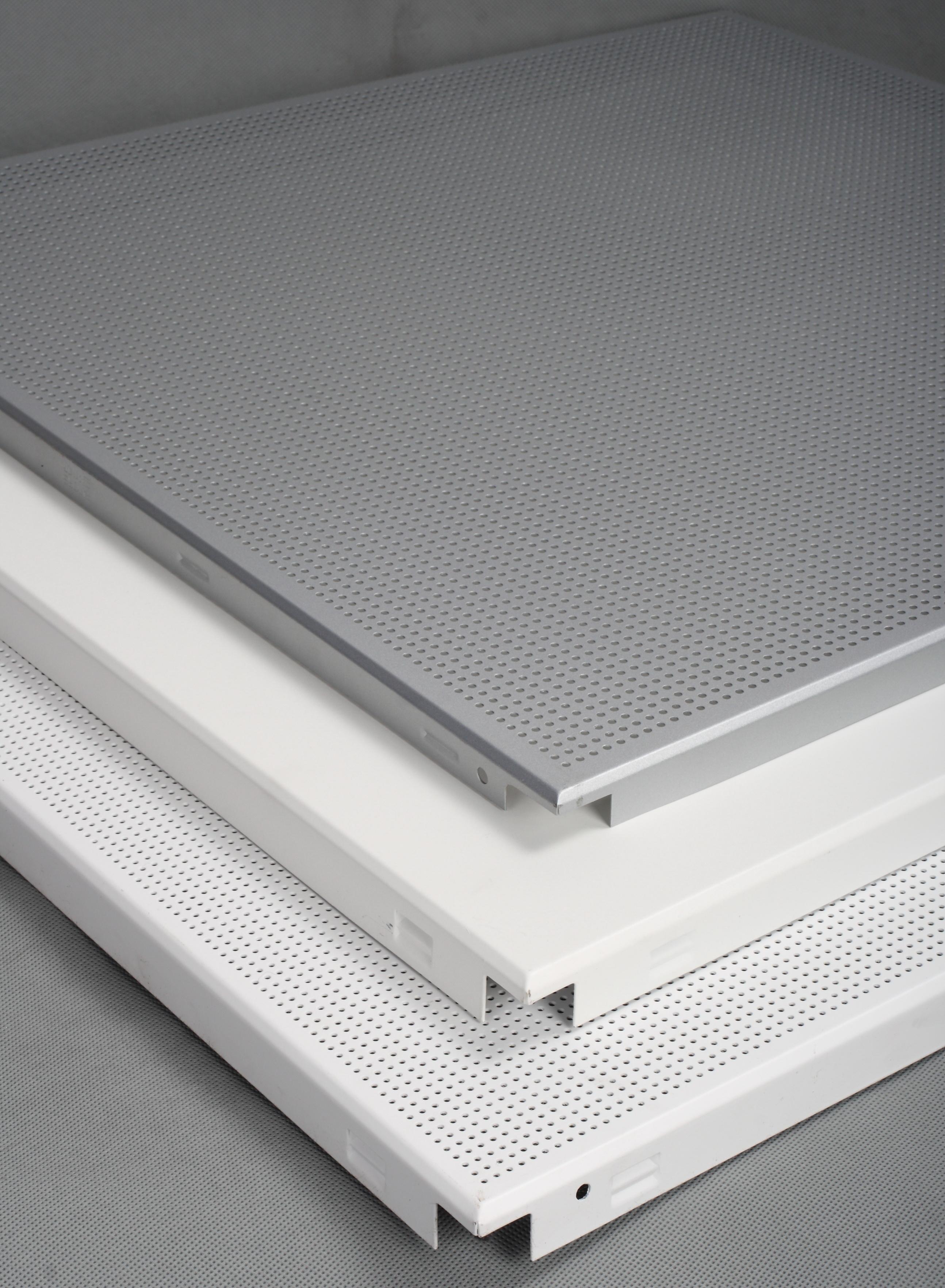 Buy Sqaure Clip In Snap In Aluminum False Ceiling Tiles