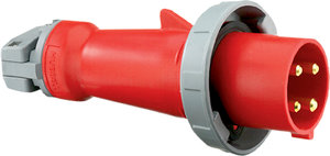 3P4W 60A 3PH 480V Red WR IEC PinSleeve Plug | Fastenal