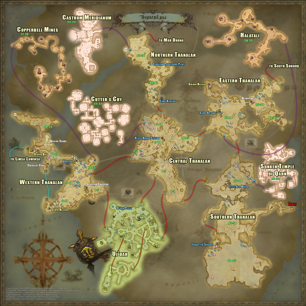 December Moon Blog Entry An Useful Zones Level Map