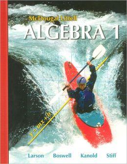 Mcdougal Littell Algebra 1 Students Edition