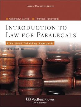 book cover for Introduction to Law for Paralegals