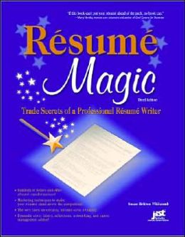 resume magic trade secrets of a professional resume writer book