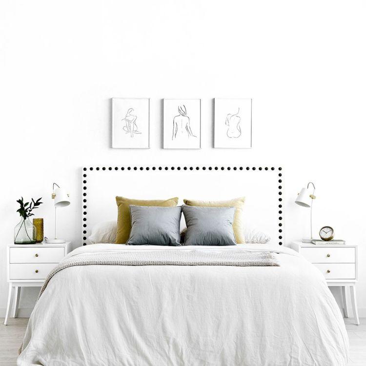 Cabecero para habitación de estilo nórdico. Affal cabecero blanco 189,00 €