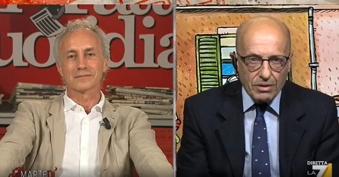 Palamara's interceptions prove one thing. Sallusti says it to his face: Travaglio remains stunned by Floris | Video