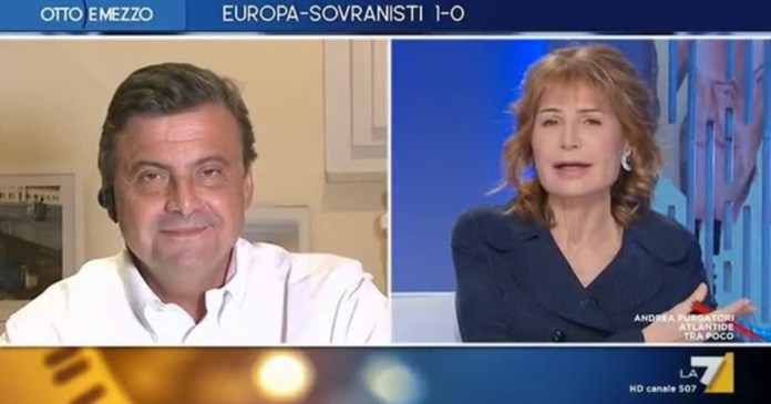 Do you have two communist children? Lilli Gruber melts in front of Carlo Calenda: it's La7 but looks like a soviet