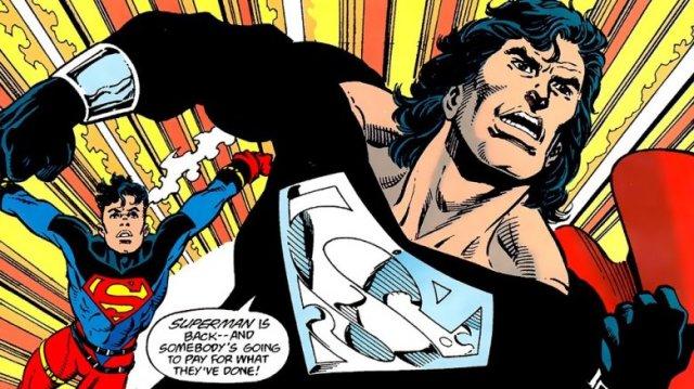 Image result for superman black suit comics