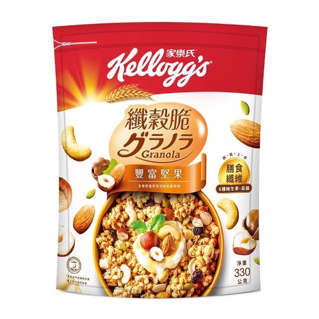 【家樂氏】纖穀脆-豐富堅果330g(早餐麥片/穀片)
