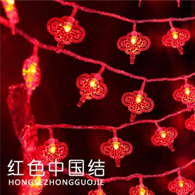 【聖誕布置/半島良品】24H發貨/3米中國結燈/燈串/新年燈/裝飾燈(掛布 過年 新年 聖誕節 聖誕燈)