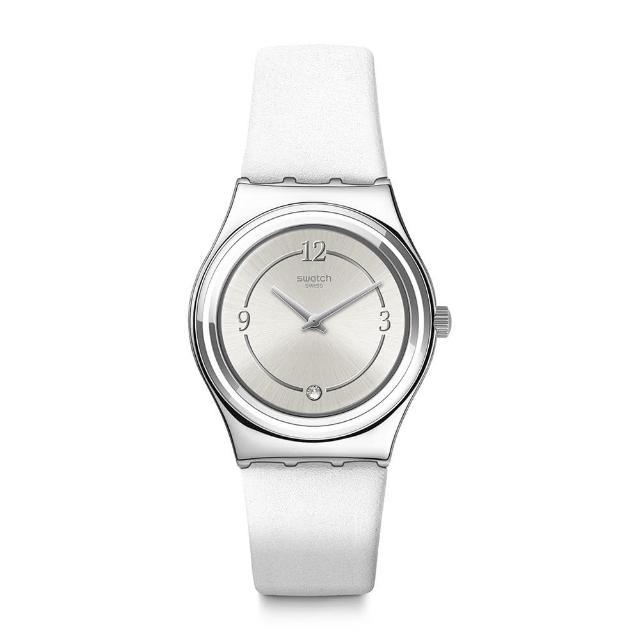 【SWATCH】Core Refresh系列手錶 MADAME BLANCHETTE 金屬-清新白(33mm)