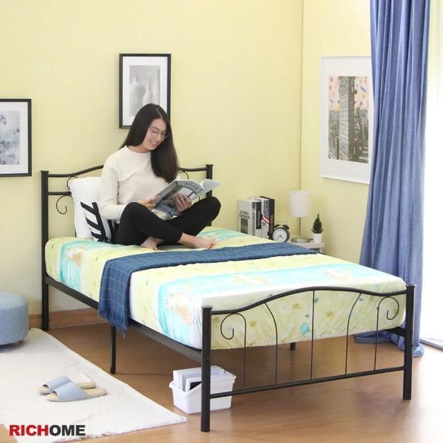 【RICHOME】夢萊工業風3.5尺單人床/鐵床/床架(經典設計)