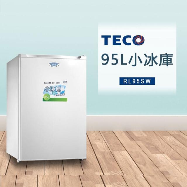 【TECO 東元】95公升單門直立式冷凍櫃(RL95SW)