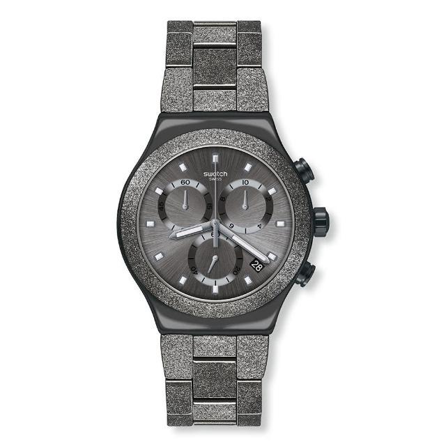 【SWATCH】Irony 金屬Chrono系列手錶 IRONY BLACKSHINY(43mm)