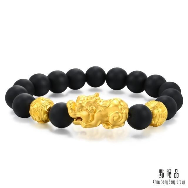 【點睛品】立體貔貅 黑玉髓黃金手鍊