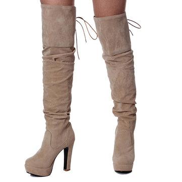 Winter High Heel Thigh Boots