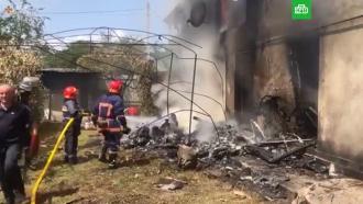 In der Ukraine fiel ein leichtes Autoflugzeug auf ein Wohngebäude: vier starben