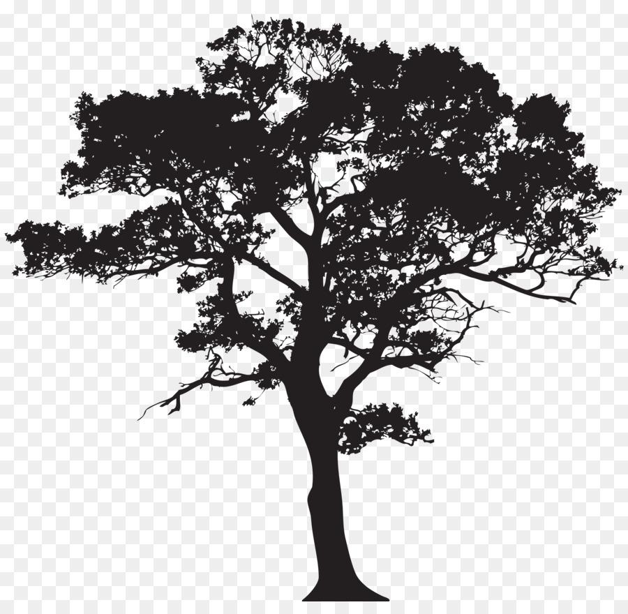 Siluet Pohon Dikemas Postscript Gambar Png