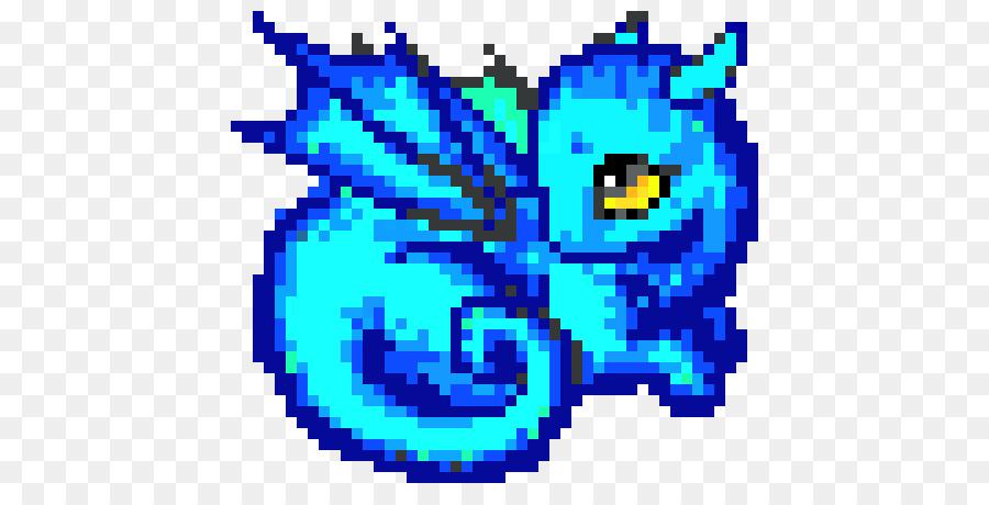 Pixel Seni Naga Manik Manik Gambar Png