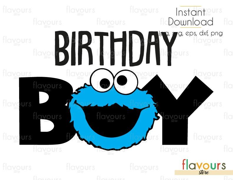 cookie monster 1st birthday png free