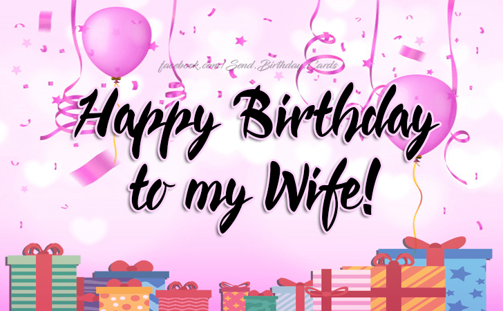 Happy Birthday To My Wife Free Happy Birthday Cards Images 1693664 Png Images Pngio