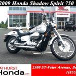 Used 2009 Honda Shadow Spirit 750 At Edmundston Honda B