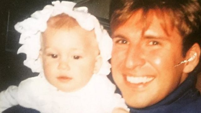 Savannah Chrisley as a baby with her father Todd Chrisley